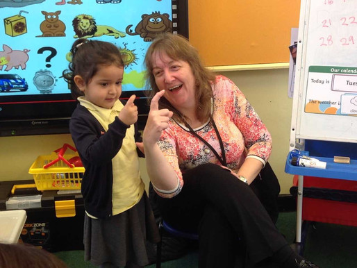 Foundation pupils have been learning their finger spellings for the letters of the alphabet.