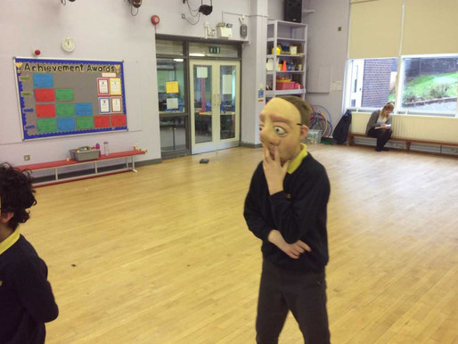 Key Stage Two had a fantastic workshop from Mary-Jane at VAMOS Theatre Company. She taught us how we