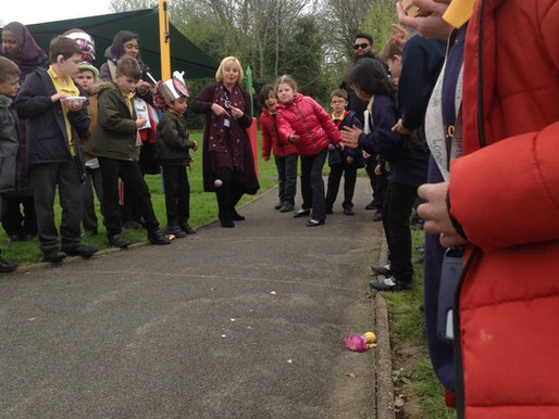 Y3 (Freesia Class) loved taking part in our annual egg rolling competition!