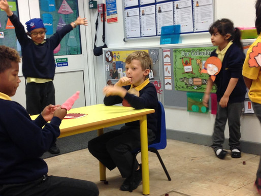 Year 2 Puffins have started learning the story of 'Jack and the Beanstalk' this week.