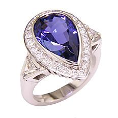 Tanzanite, Diamond and White Gold Ring