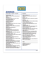 La Bodeguita del Medio dinner menu (PDF)
