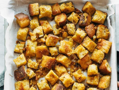 Eat Your Veggie Cheesy Croutons