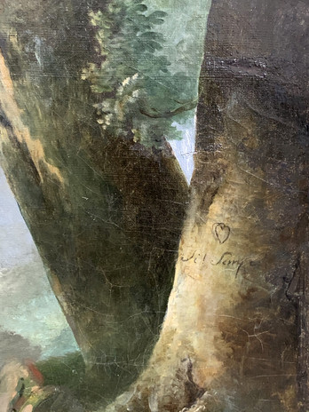 les deux troncs enlacés