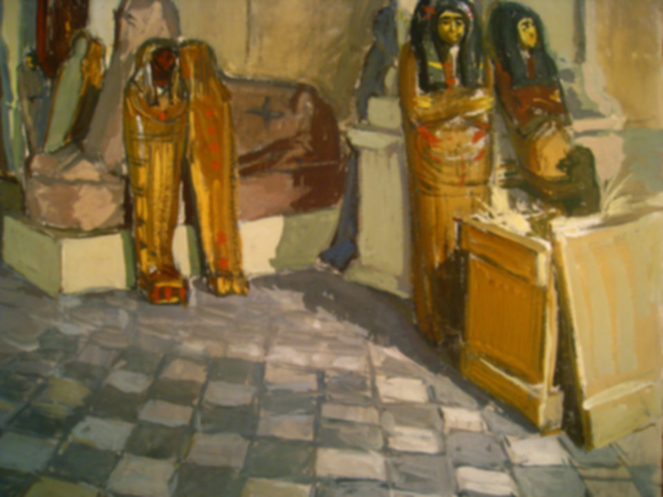 musee du louvre, momie egyptiennes, 1946