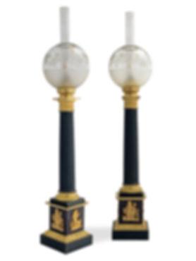 Paire de lampes carcel