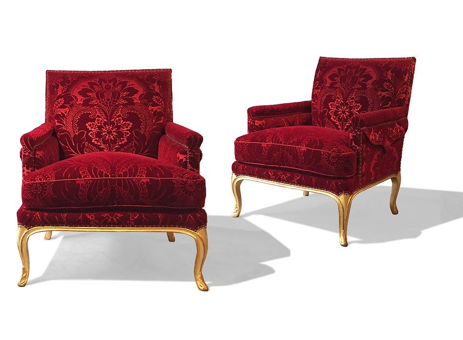 pire de bergères  époque Louis XV en bois doré