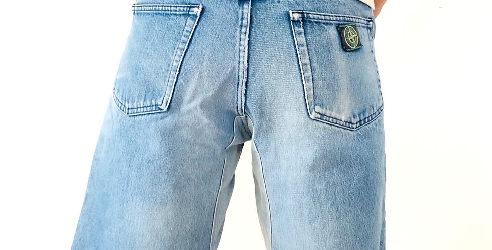 pantaloncini-shorts-jeans-stone-island-vintage