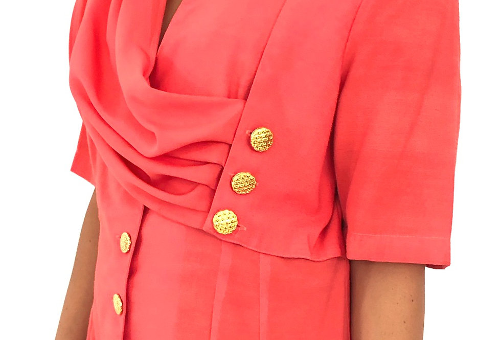 giacca-rosa-drappeggio-vintage