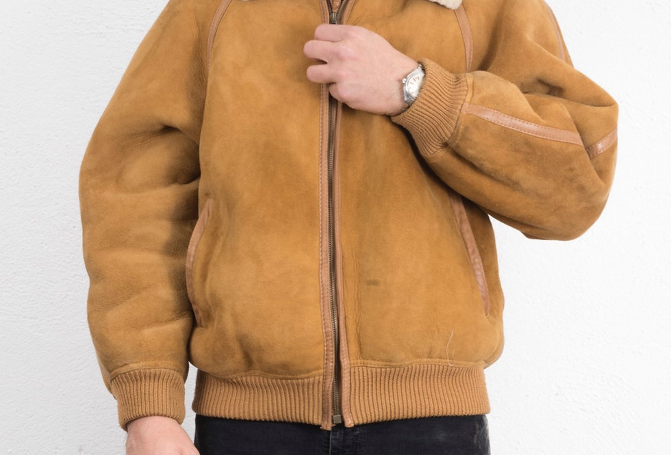 bomber-giacca-vero-montone-vintage