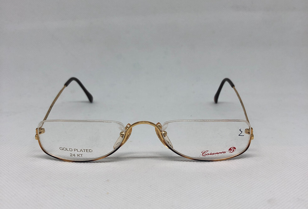 CASANOVA gold plated 24kt c 02 50/22 3004 vintage glasses DEADSTOCK
