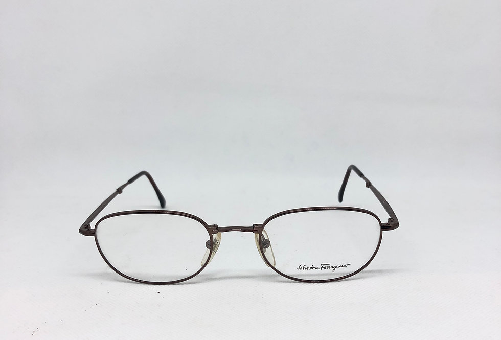SALVATORE FERRAGAMO 1507 519 51 20 135 vintage glasses DEADSTOCK