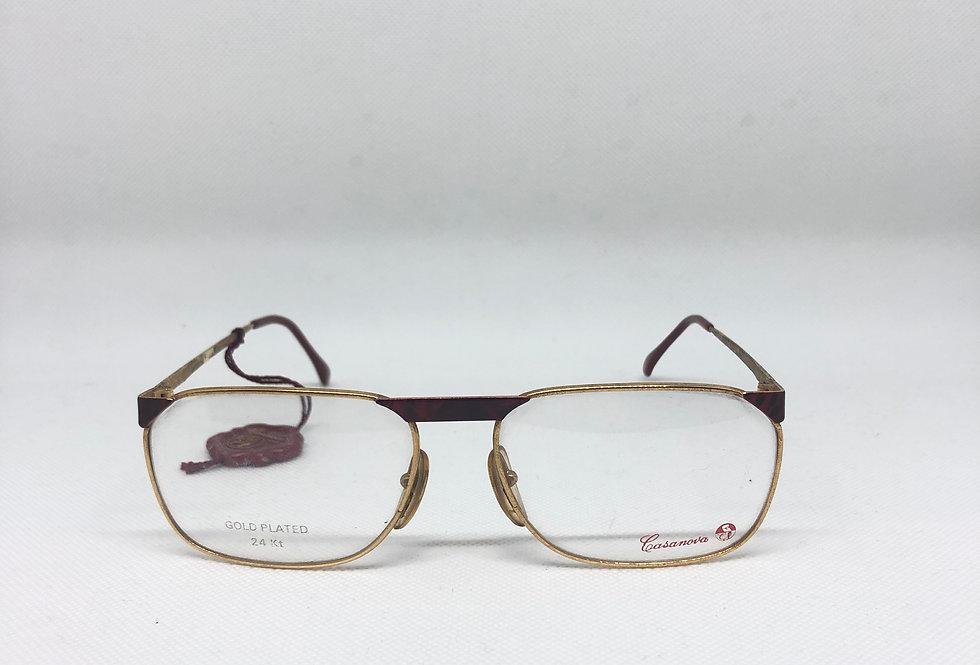 CASANOVA gold plated 24kt c02 56 20 vintage glasses DEADSTOCK