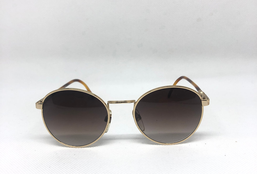 FUJIWARA 20 oro lucido metalflex 48 vintage sunglasses DEADSTOCK