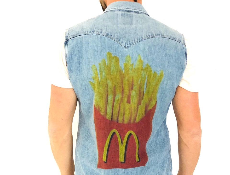 gilet-jeans-levis-custom-mcdonalds-vintage