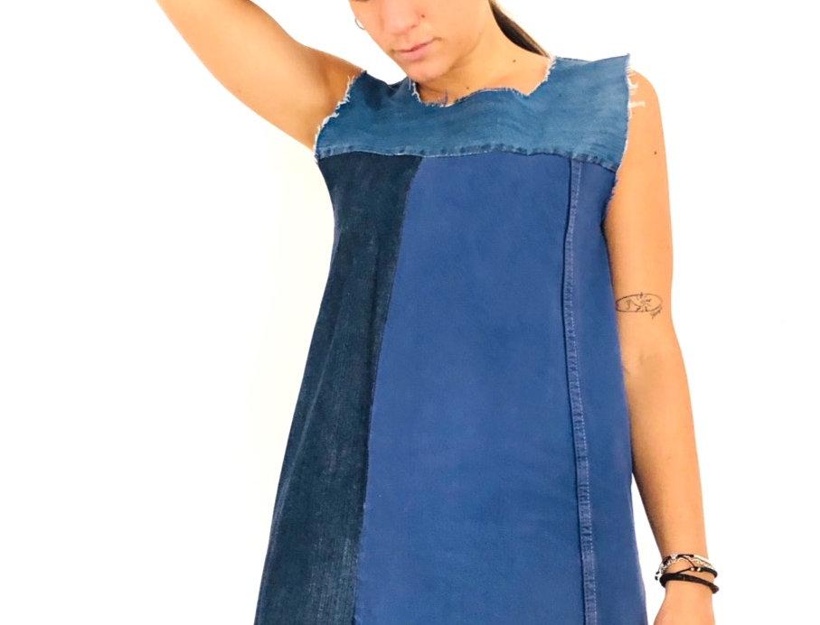 vestito-vestitino-denim-jeans-vintage