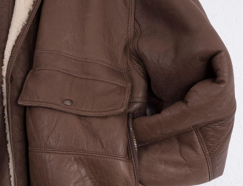 giacca-bomber-vero-montone-vintage