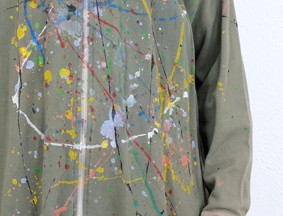 camicia-militare-dipinta-mano-vintage