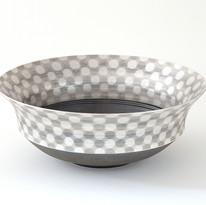 色絵銀彩幾何文鉢