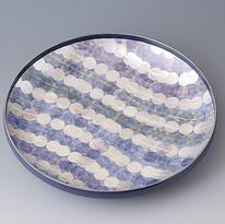 色絵銀彩波文鉢