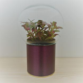 terrarium original et pas cher socle aspect cuivre brossé et globe verre