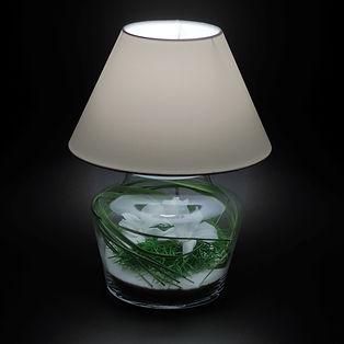 lampe de chevet orchidées blanches stabilisées Paris aucun entretien décoration végétale moderne design contemporain style japonais zen épuré nature et lumière