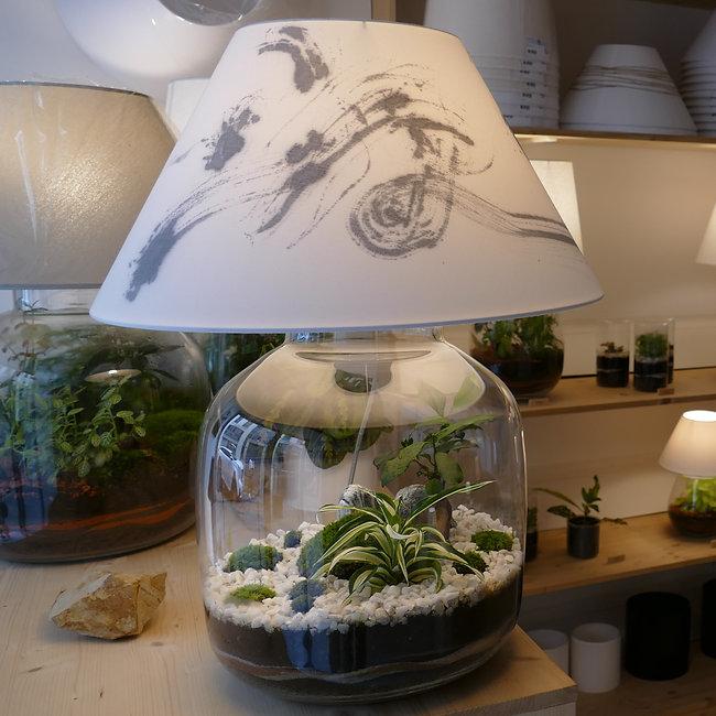 lampe terrarium de plantes Green Cocoon en association avec Makiko Takei