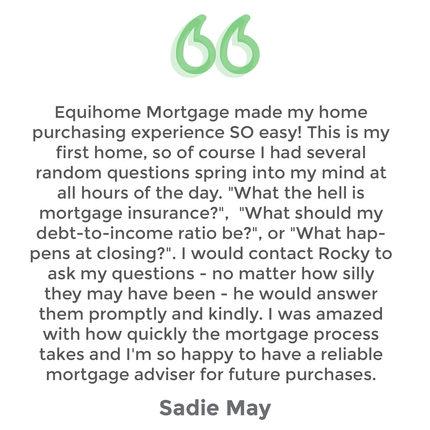 Testimonial Sadie May