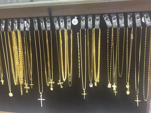 14 K gold chains by the weight