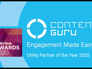 """Content Guru Wins """"Utility Partner of the Year"""" at Utility Week Awards 2020"""