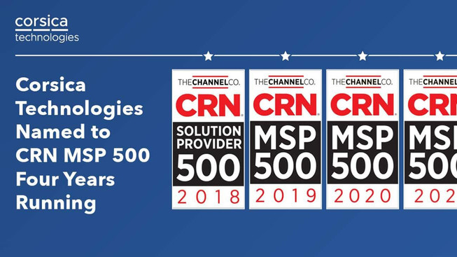 Corsica again listed in the 2021 MSP 500 by CRN