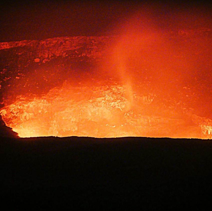 Le Kilauea de nuit