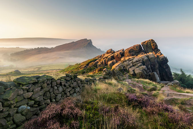 The Roaches during August sunrise in the
