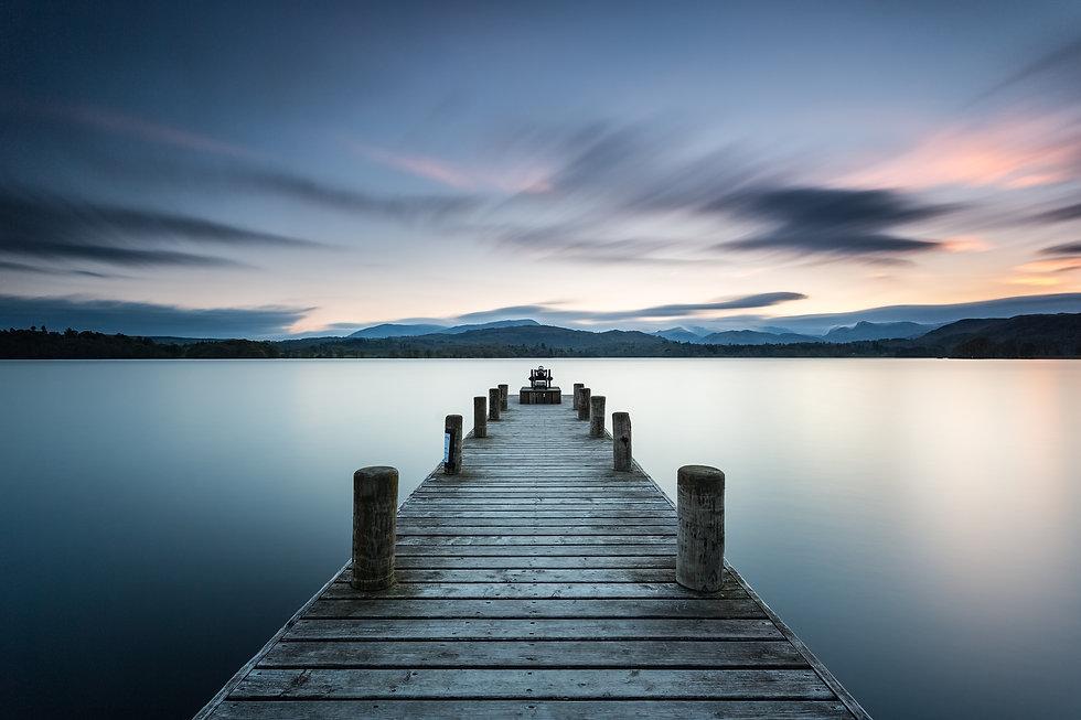 Lake District, Low Wood jetty near Amble