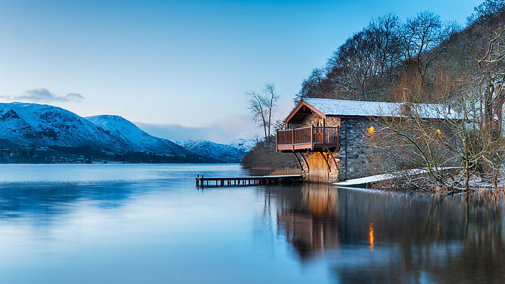 Dawn at the old boat house on Ullswater