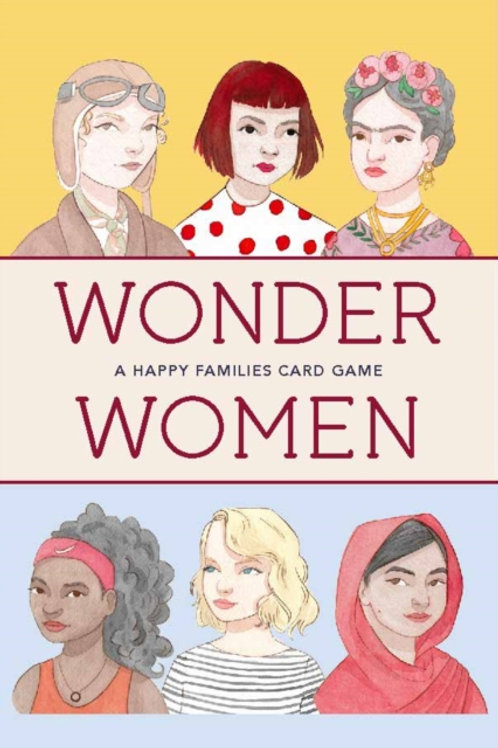 Wonder Women Happy Families card game