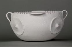 070-White Qualla Boundary pot