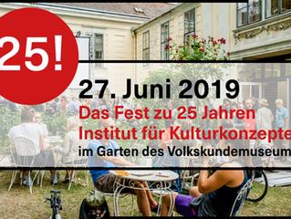 27 June 2019 @Institut für Kulturkonzepte (im Garten des Volkskundemuseums)