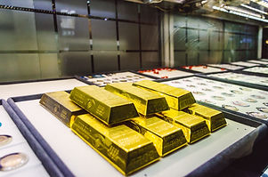 gold bars exposed in a market in grand b