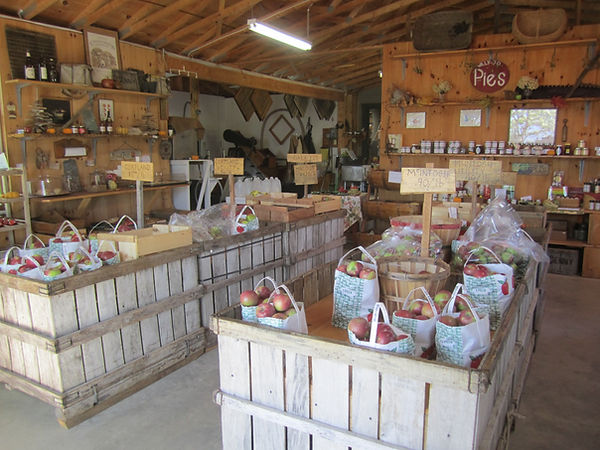 Interior of Biscay Orchards Apple Stand