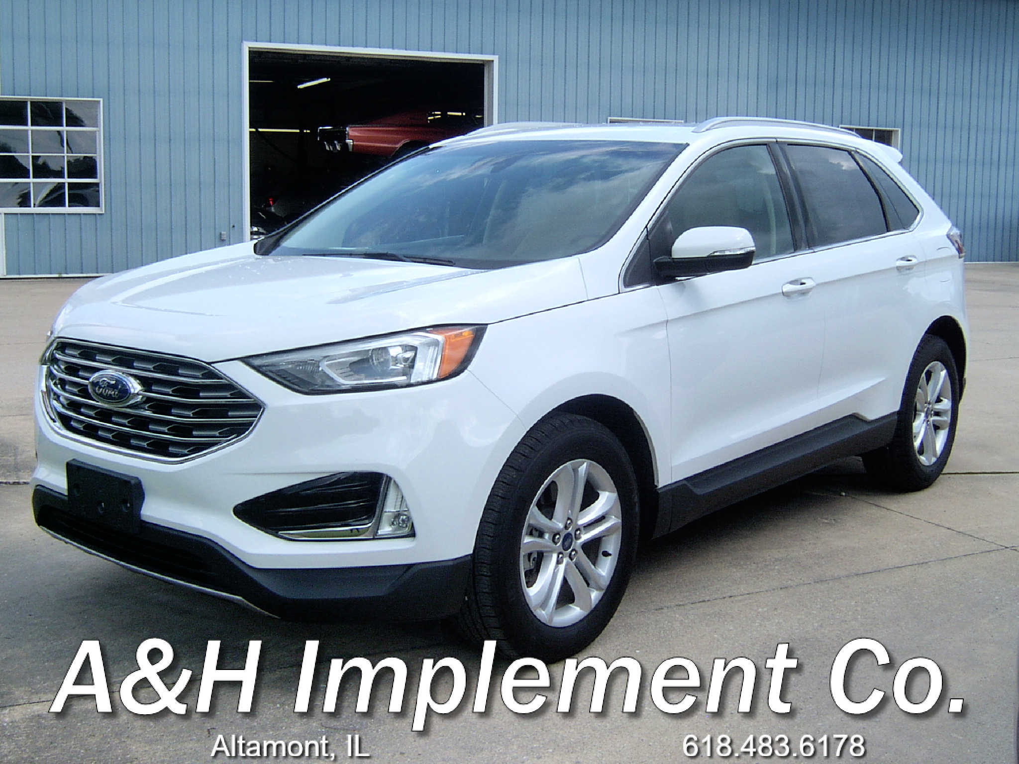2019 Ford Edge SEL - White 1