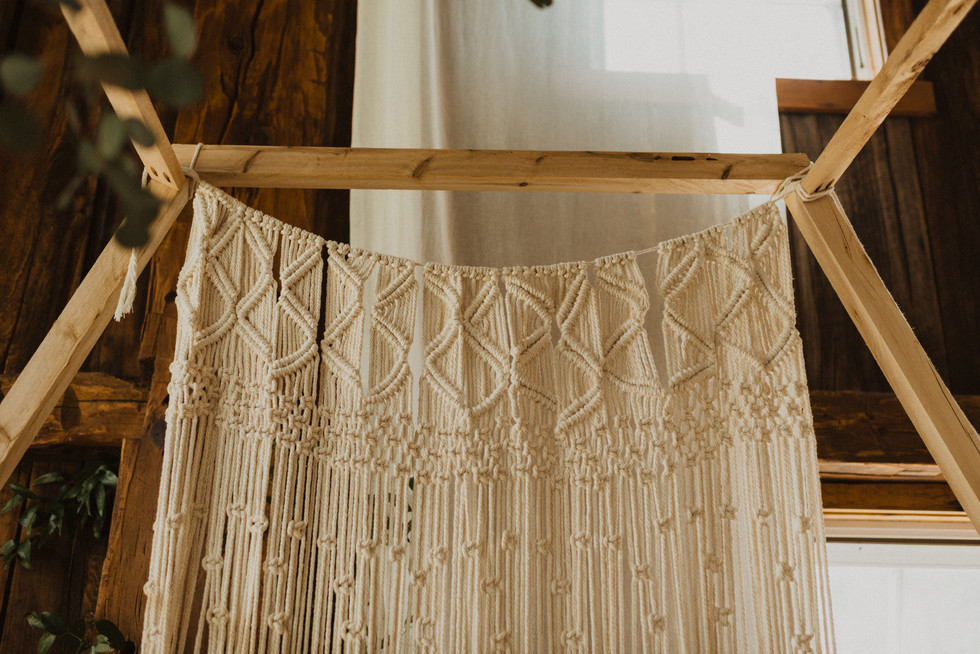 macrame wedding backdrop | 4.13.19