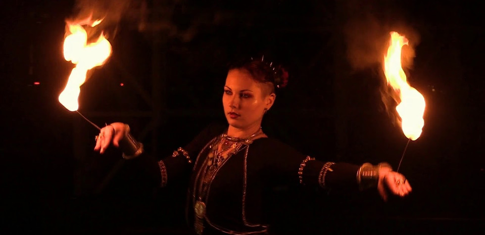 Ethel. Fire Tribal Dance