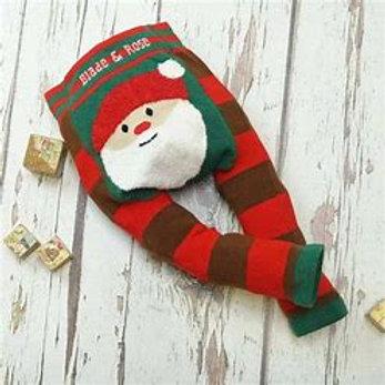B and R Santa Leggings and Socks