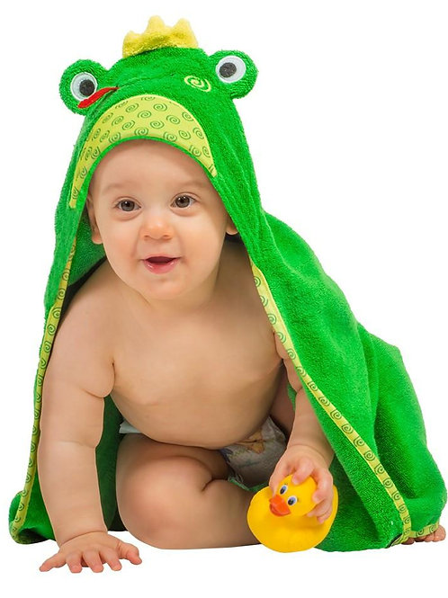 Frog Hooded Towel