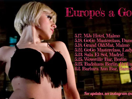 My Europe's A Go Go Tour starts Friday!