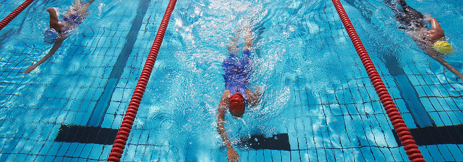 swimmers in a pool
