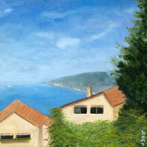 Lanscape Painting - Landscape in Haifa