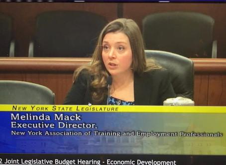 NYATEP Testifies Before NYS Legislature