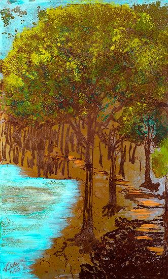 Trees, Original Painting on Steel